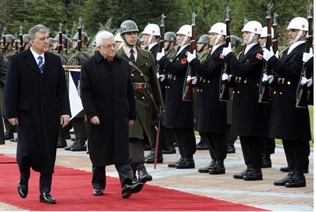 Turkey's President Gul and PA Chairman Abbas