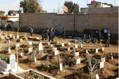 Cemetery for victims of Assad's forces.