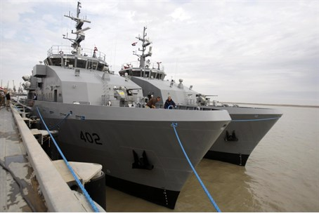 U.S.-made vessels received in Iraq's southern