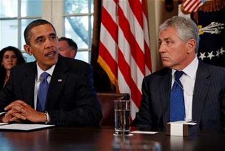 President Obama and Chuck Hagel