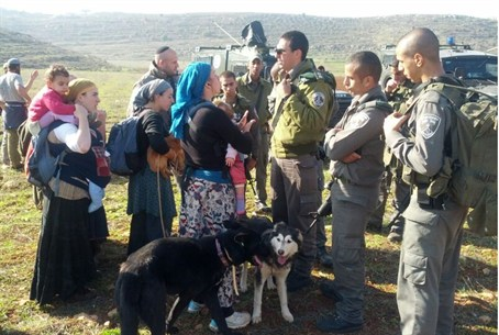 Border Police at Aish Kodesh