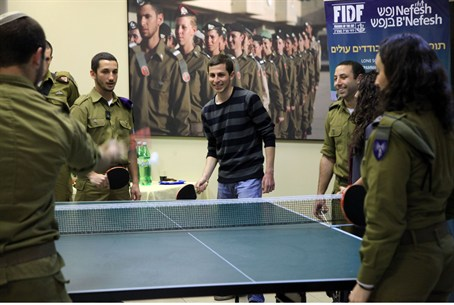 Gilad Shalit with Lone Soldiers