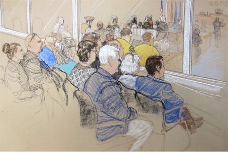 Illustration of pretrial hearings for alleged