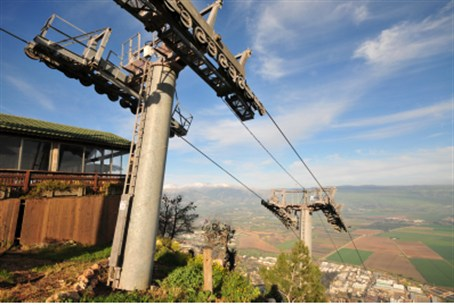 Cable car overlooking Kiryat Shmona