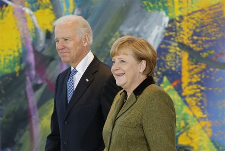 German Chancellor Angela Merkel and U.S. Vice