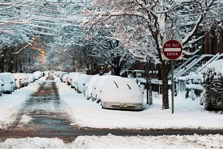 The Northeast U.S. woke up Saturday to snow-b