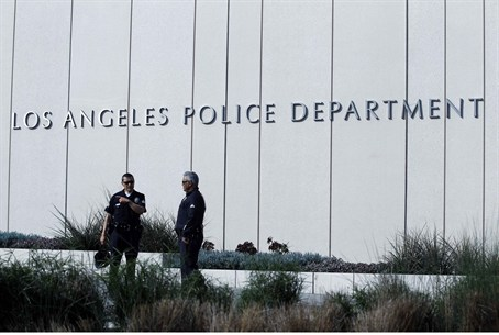 The LAPD are searching for an ex-cop accused