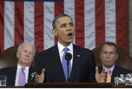 U.S. President Obama delivers his State of th