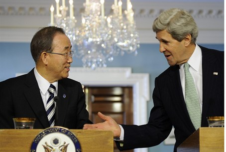 U.S. Secretary of State John Kerry and UN Sec