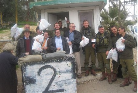 IDF soldiers receive mishloach manot