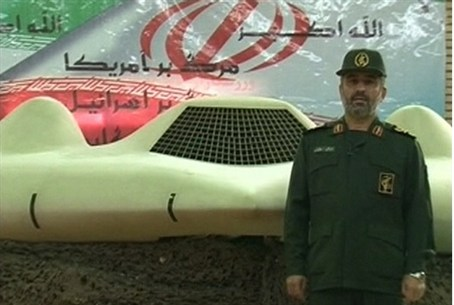 IRGC aerospace force commander next to what I