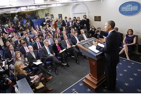 Obama discusses the sequester and tax loophol