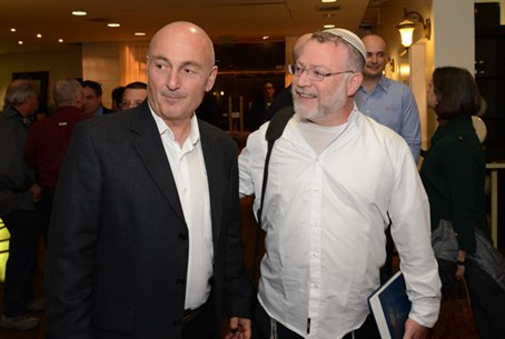 Yaakov Luxenburg (left) with Moshe Goldsmith