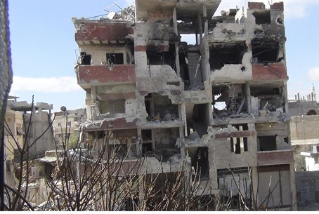 Building destroyed in Deraya