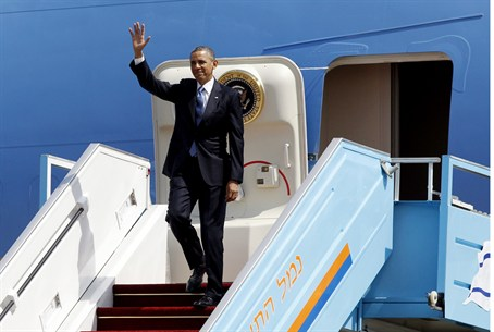 U.S. President Barack Obama arrives at Ben Gu