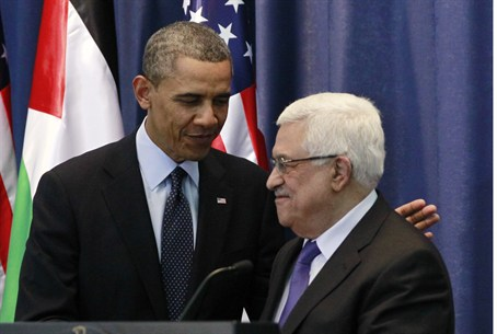 Abbas and Obama in Ramallah