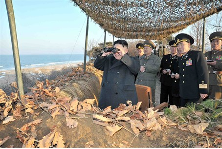 N Korean leader Kim Jong-Un, military leaders