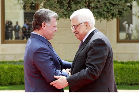 Jordan king Abdullah and PA chairman Abbas