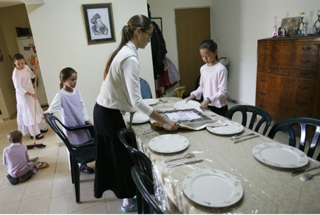 Girls in religious Jewish family
