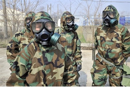 Soldiers of the US Army's 23rd Chemical Batta