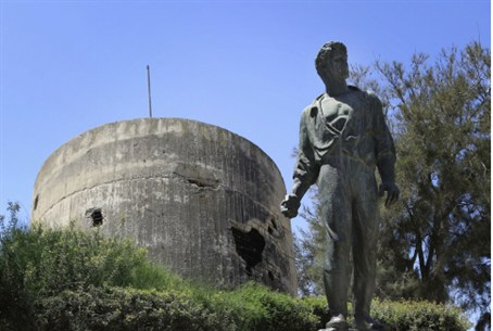 leader of Warsaw Ghetto uprising at Kibbutz Y
