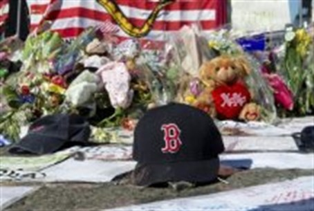 makeshift memorial for Boston Marathon attack