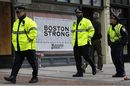 site of Boston bombing