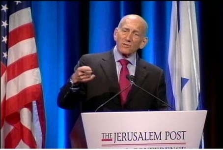 Ehud Olmert at the Jerusaelm Post Conference