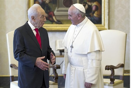 Pope Francis with President Shimon Peres