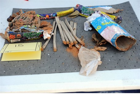 Explosives found in backpack disposed of by f