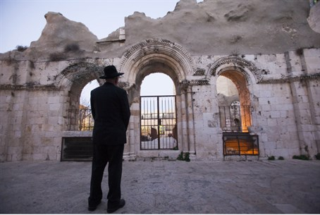 Ruins of Old City synagogue destroyed in War