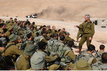 IDF CoS Gantz with Nachal soldiers