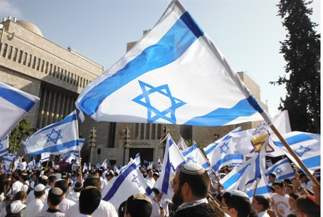 Flag Dance in Jerusalem