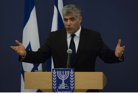 Finance Minister Yair Lapid