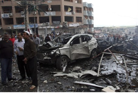 Site of car bombing