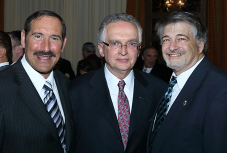 Peters with Joe Frager (left), Paul Brody