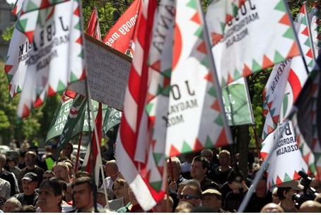 rally of Jobbik supporters