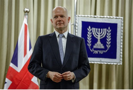 British Foreign Secretary William Hague in Je