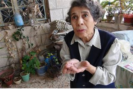 Yona in her home in Shuafat