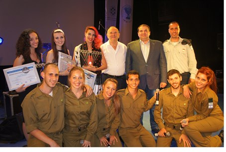 Contest winners, A. Levin, IDF Band commander