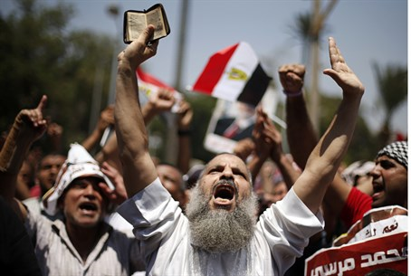 Egyptian Islamists protest over Morsi ouster