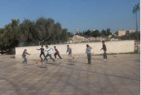 Illustration: Soccer on the Temple Mount