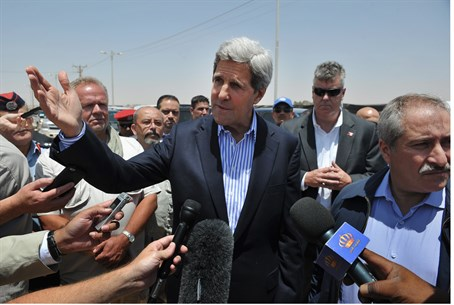 Kerry visits Za'atari refugee camp