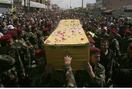Funeral of Hezbollah fighter killed in Syria (file)