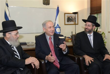 Netanyahu with rabbis
