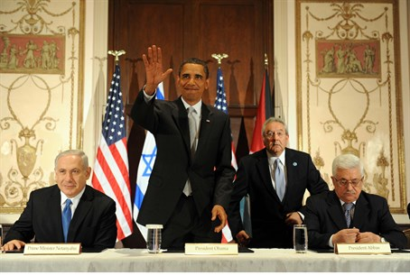 Obama, Netanyahu and Abbas meet in New York,