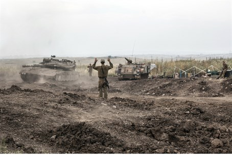 IDF tanks in the Golan