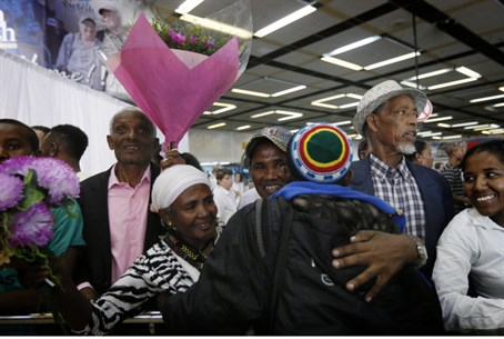 Ethiopian immigrants arrive in Israel, Wednes