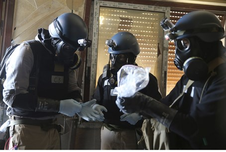 Chemical weapons experts in Syria
