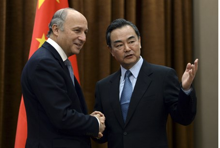 French, Chinese Foreign Ministers in previous